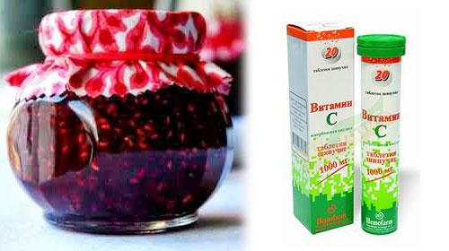 Жимолость съедобная витамин C