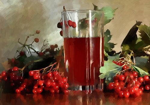Калина обыкновенная - сок